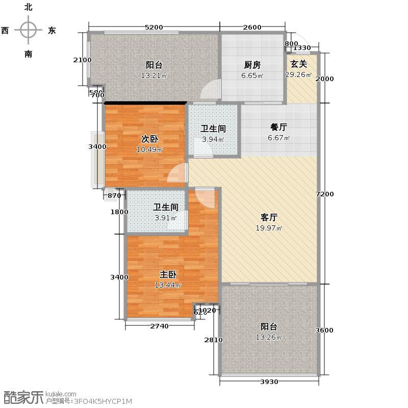东山国际新城101.18㎡户型10室