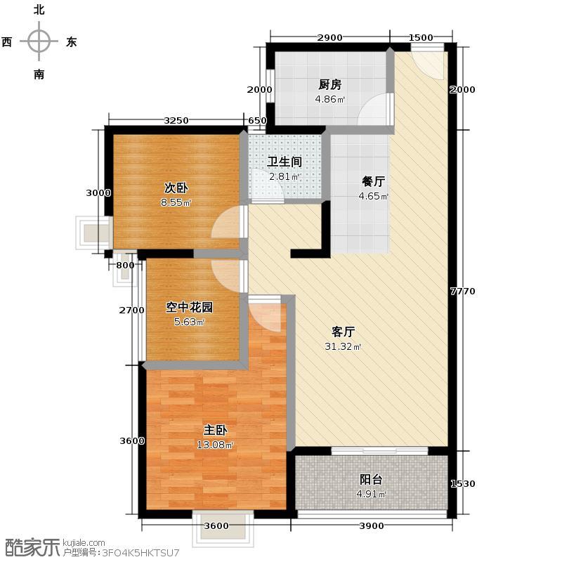 中建麓山和苑88.32㎡A3户型10室