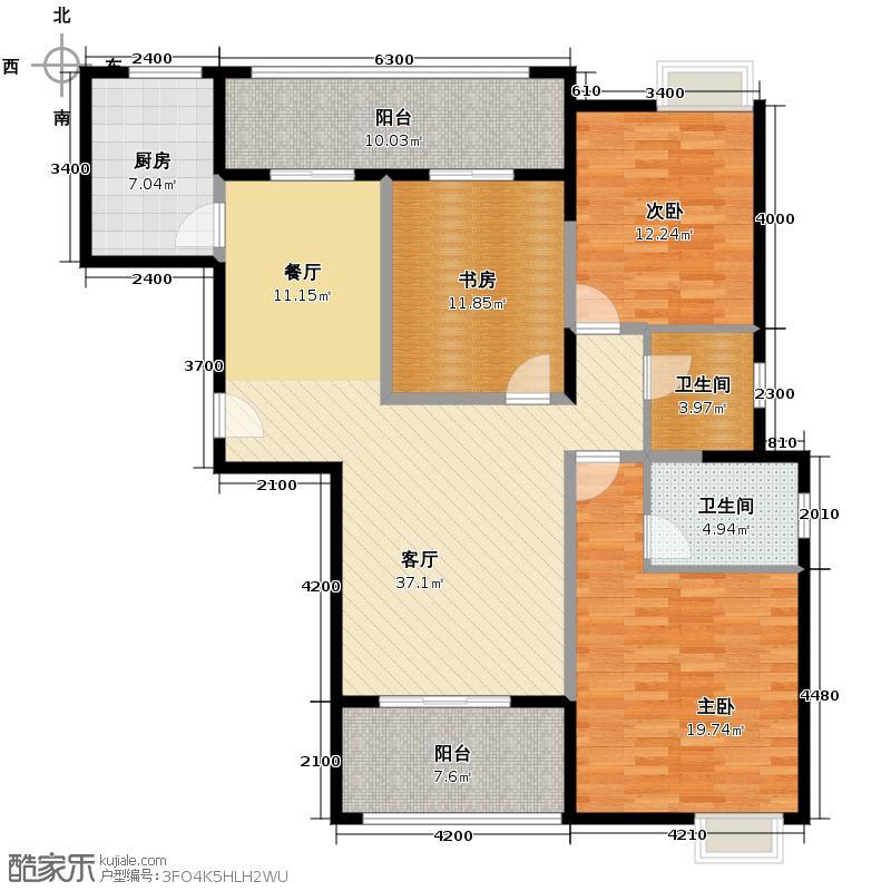 中建麓山和苑136.50㎡香晴轩D1户型3室2厅2卫