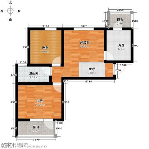峰尚花园82.00㎡户型图
