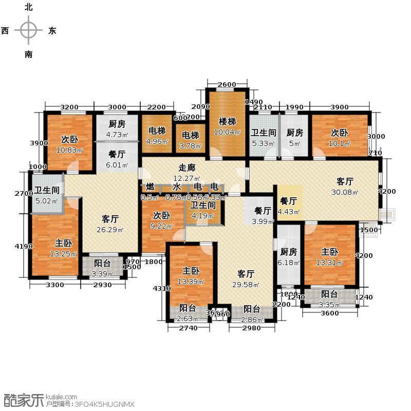 泰达汉郡90.52㎡A-3户型2室2厅1卫