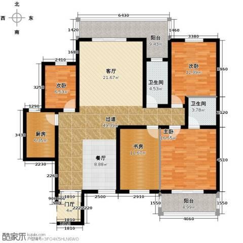 汇城上筑4室0厅2卫1厨143.26㎡户型图