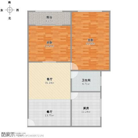 红旗教师公寓2室1厅1卫1厨130.00㎡户型图