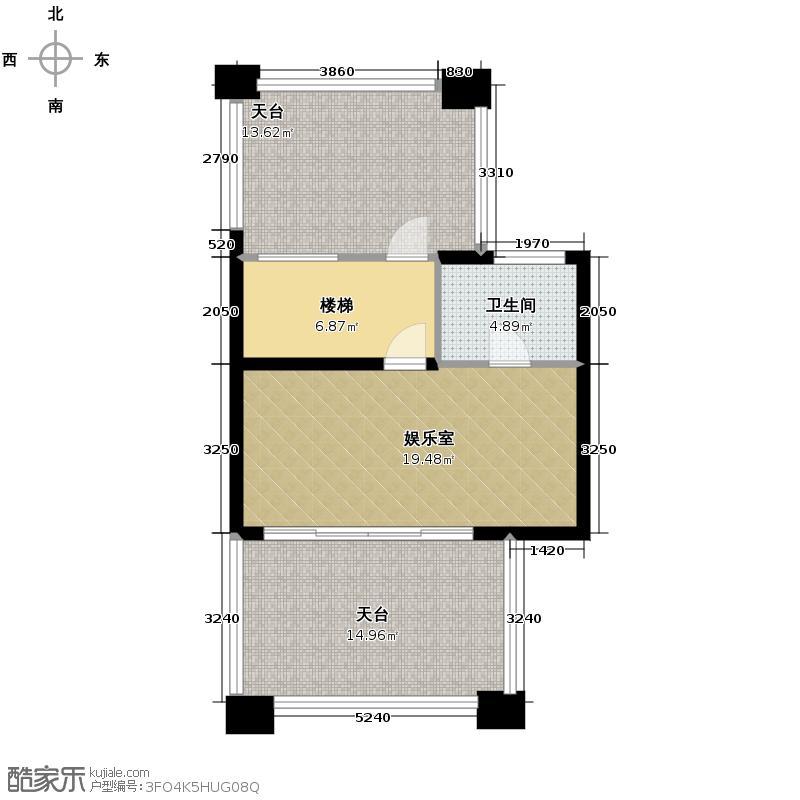 盈峰翠邸240.00㎡B4型四层户型3室3厅5卫