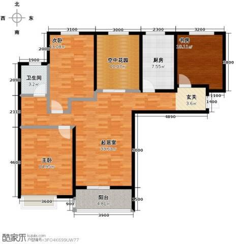 华润海中国3室2厅1卫0厨127.00㎡户型图