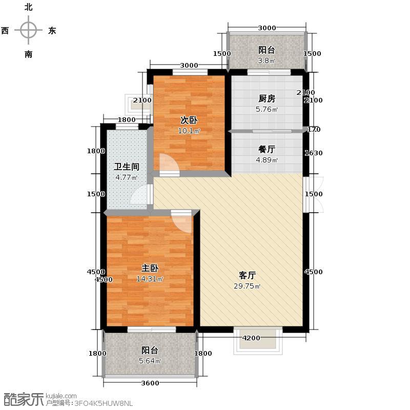 福汇华庭84.42㎡楼层平面图户型10室