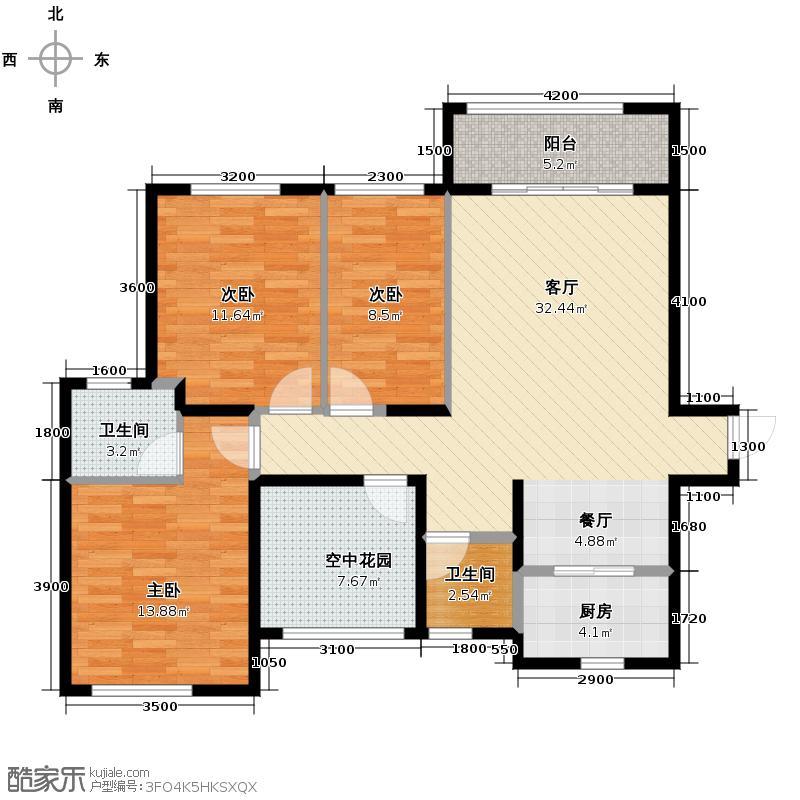 乾源国际广场115.00㎡A户型3室2厅2卫