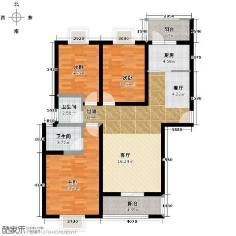 弘和美邻馆3室0厅2卫1厨125.00㎡户型图