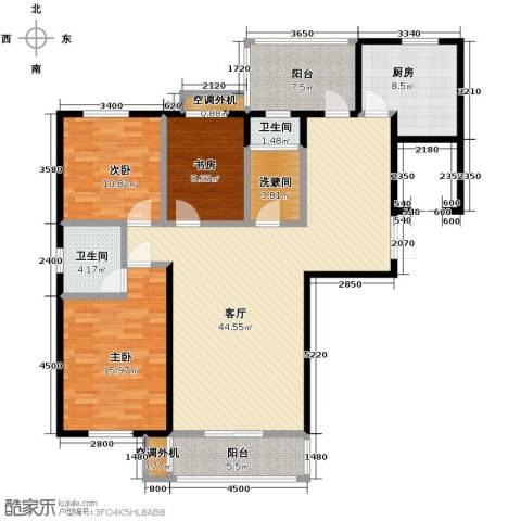 汇城上筑3室1厅2卫1厨127.53㎡户型图