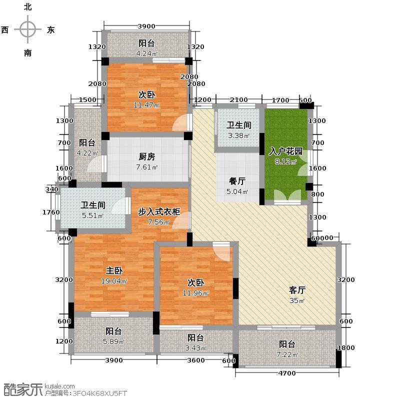 金科东方王榭147.01㎡HC5-a户型3室1厅2卫1厨