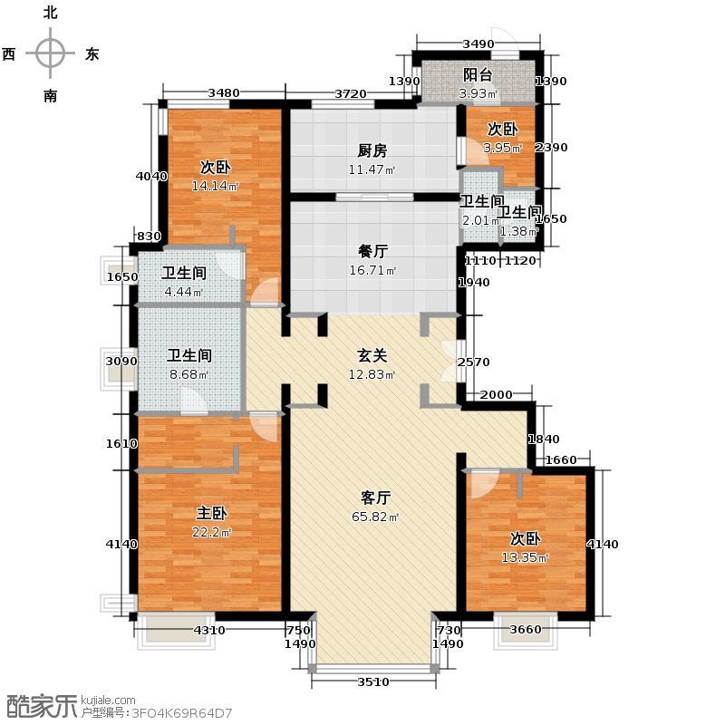 北京华贸城205.00㎡A1户型10室