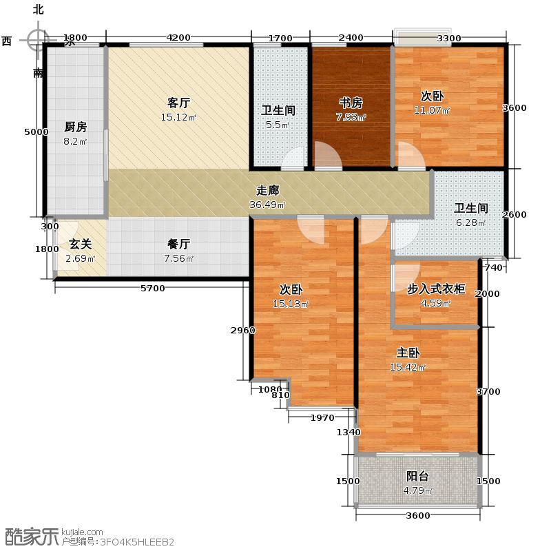 华远君城150.74㎡央视点3号楼B1户型10室