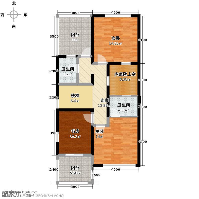 红墅湾210.20㎡E户型5室2厅4卫