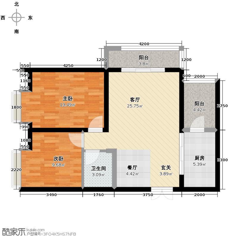 宫园壹号91.04㎡B1户型10室