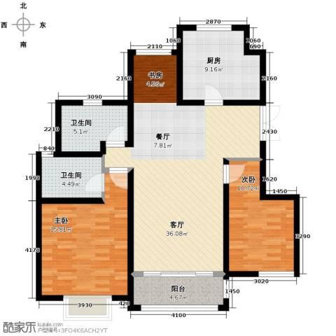 吉宝季景兰庭123.00㎡户型图