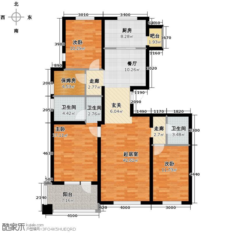 首创红树湾124.73㎡A1户型10室