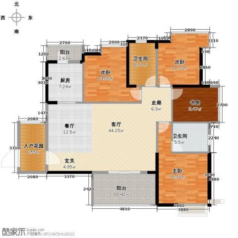 金地中心城4室1厅2卫1厨157.00㎡户型图
