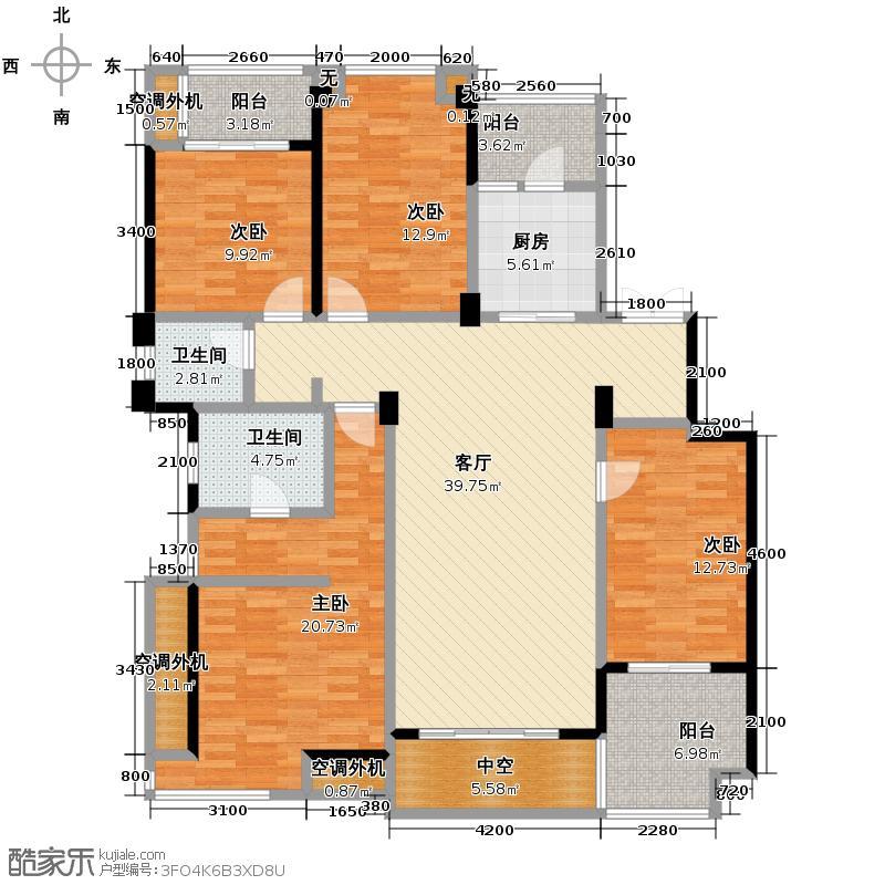 万科金色悦城134.00㎡洋房C3户型3室2厅2卫