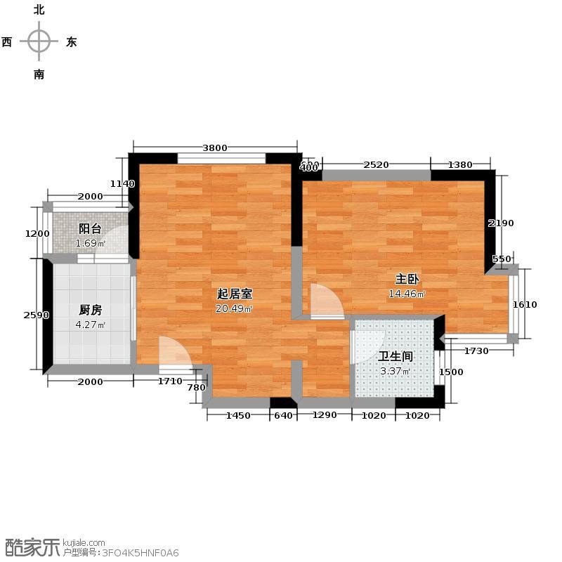 贻成豪庭78.00㎡C`4户型10室