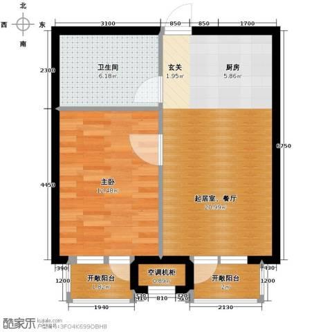 华润海中国1室1厅1卫0厨60.00㎡户型图