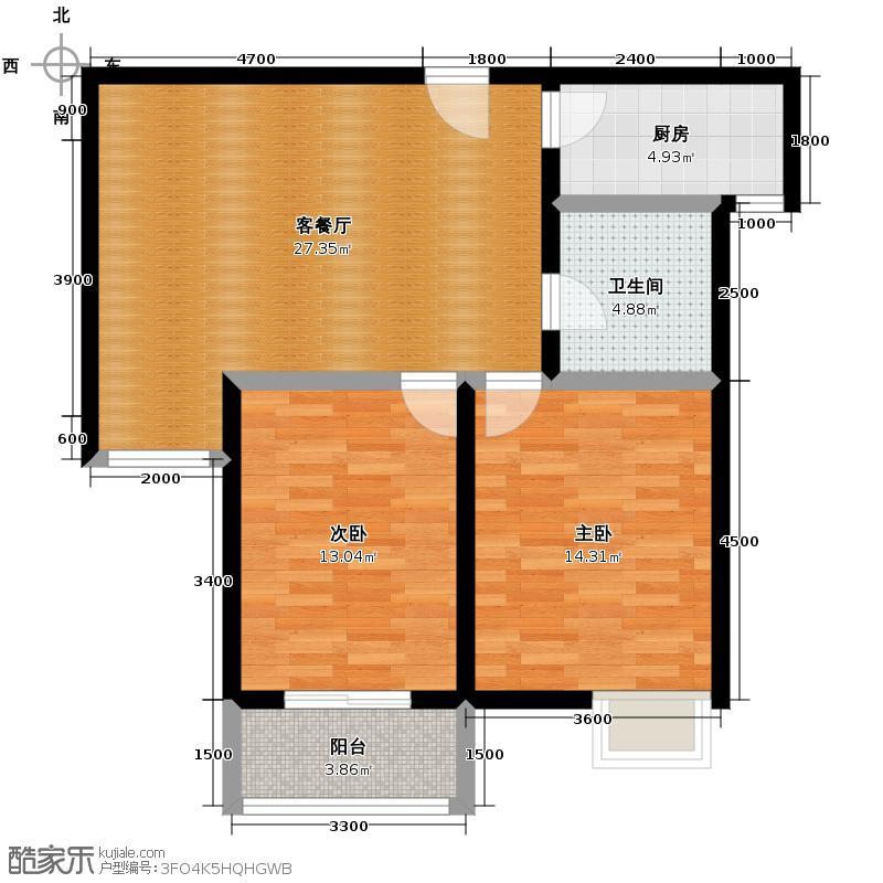 江林公园里3.00㎡江林新城3号楼户型10室