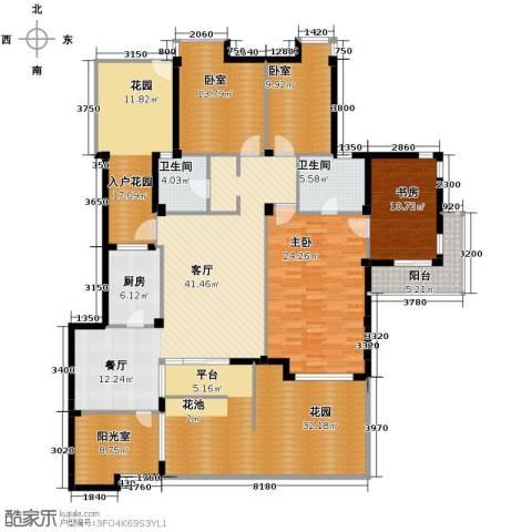 当代国际花园十五区高层249.00㎡户型图