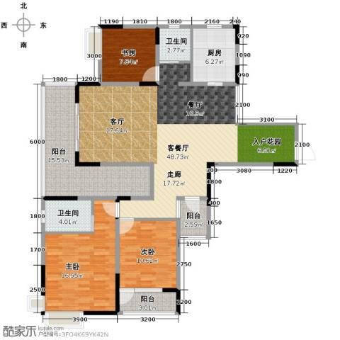 清江山水3室2厅2卫0厨140.00㎡户型图