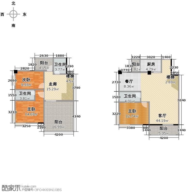 昌泰盛世家园153.18㎡户型3室1厅3卫1厨