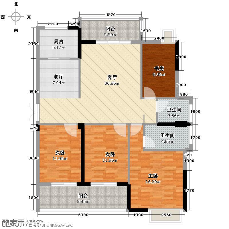 梅峰礼居138.00㎡1#01/06单元户型10室