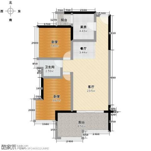 永江国际公馆83.00㎡户型图