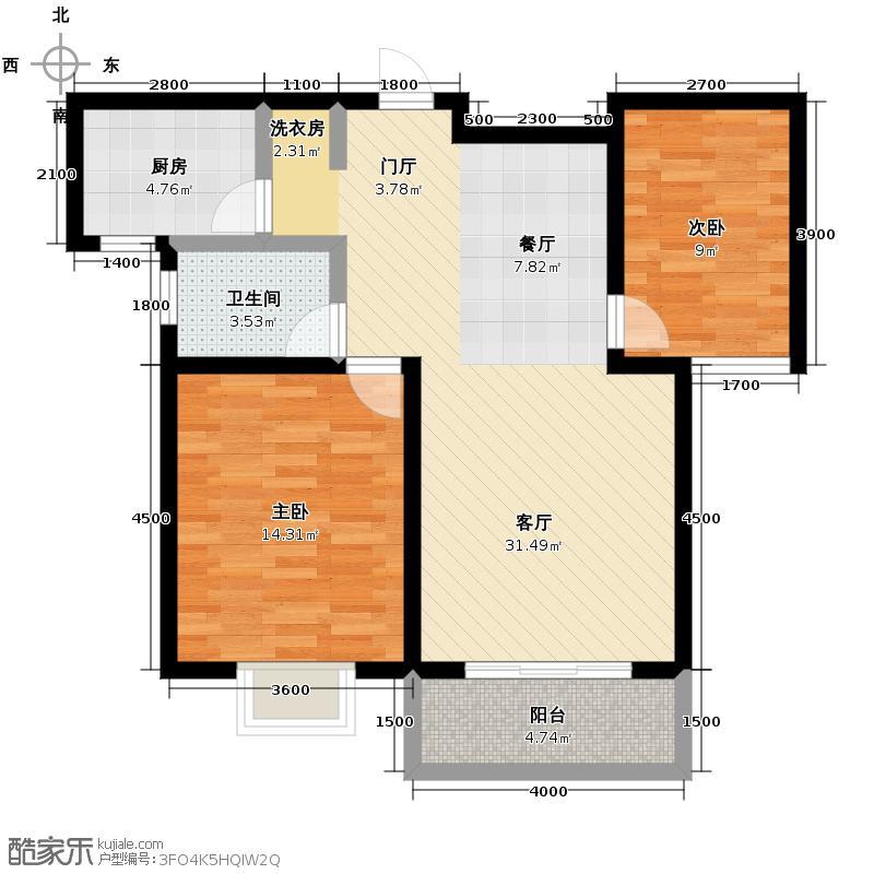 广厦水岸东方78.26㎡1期已售罄户型10室