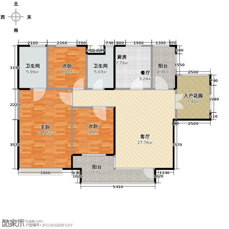 永泰枕流GOLF公寓133.79㎡F户型10室