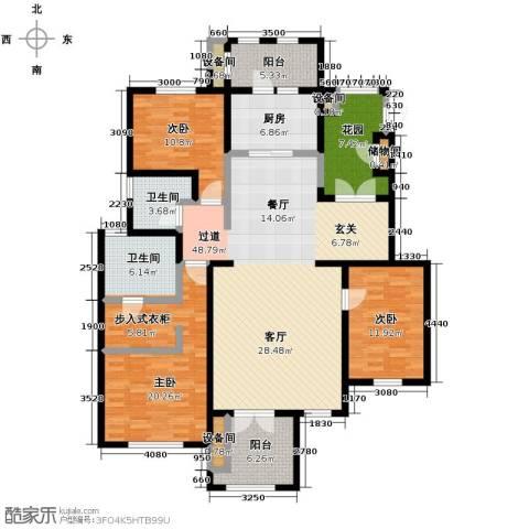 万通生态城新新家园3室2厅2卫0厨149.00㎡户型图