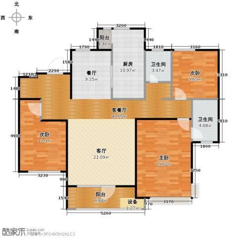 首玺3室2厅1卫0厨155.00㎡户型图