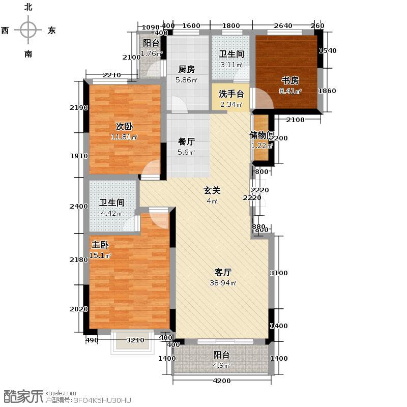 联美品格127.94㎡C5户型3室2厅2卫