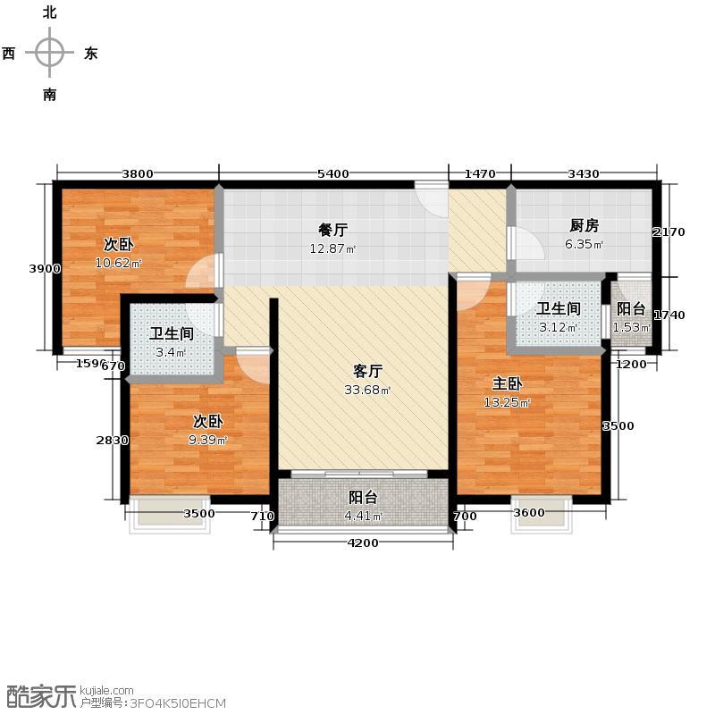 城南故事115.00㎡5、6号栋c9户型3室2厅1卫