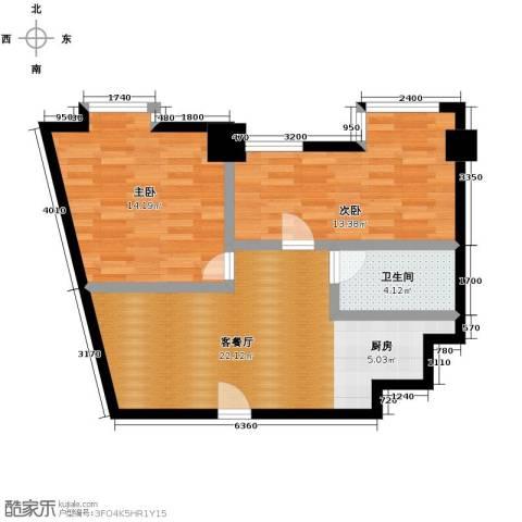 YOHO湾2室1厅1卫0厨102.00㎡户型图