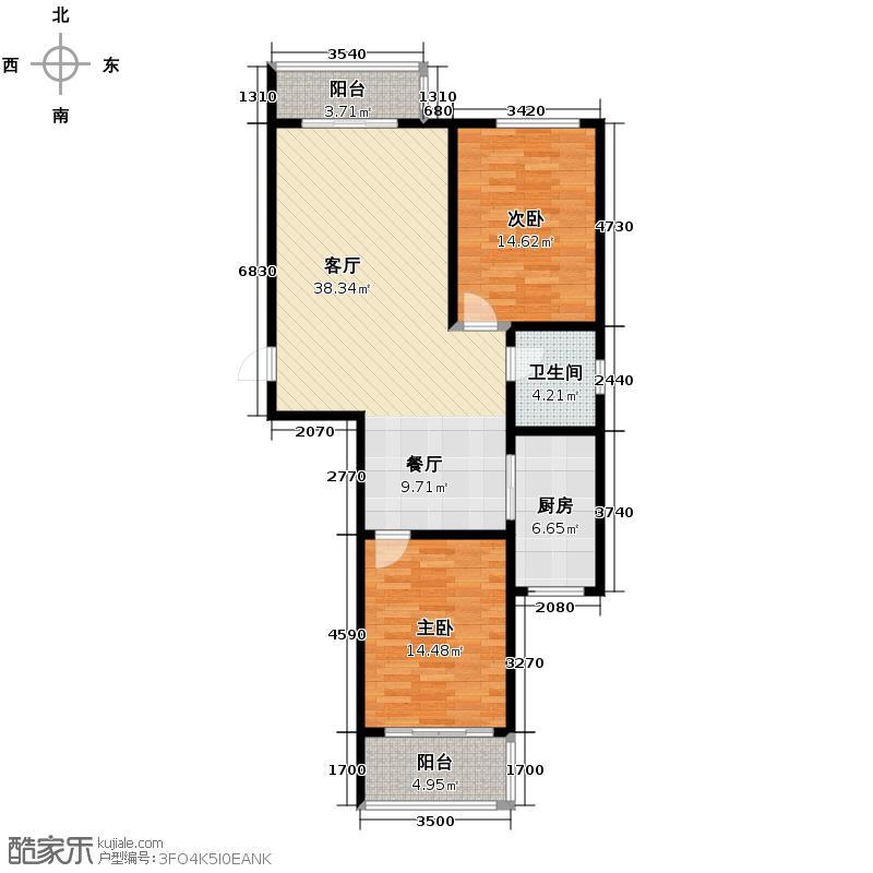 新利家园97.03㎡K户型10室