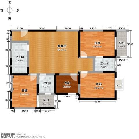 晟方佳苑4室1厅3卫0厨131.00㎡户型图
