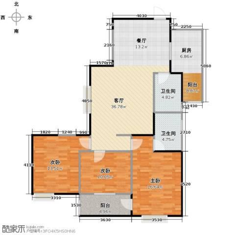 海�新天3室1厅2卫0厨130.00㎡户型图
