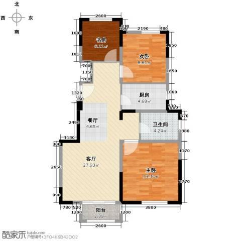 北宁湾3室2厅1卫0厨95.00㎡户型图