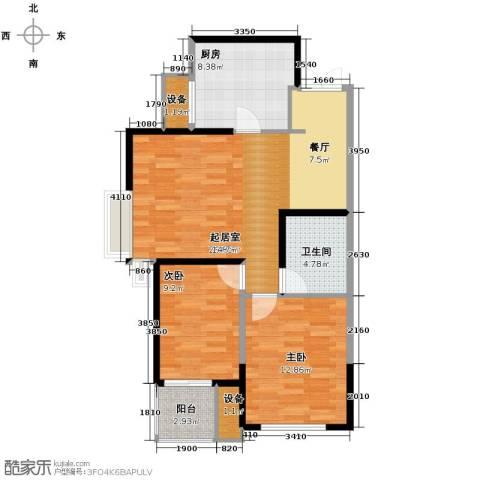 卫津领寓2室2厅1卫0厨91.00㎡户型图