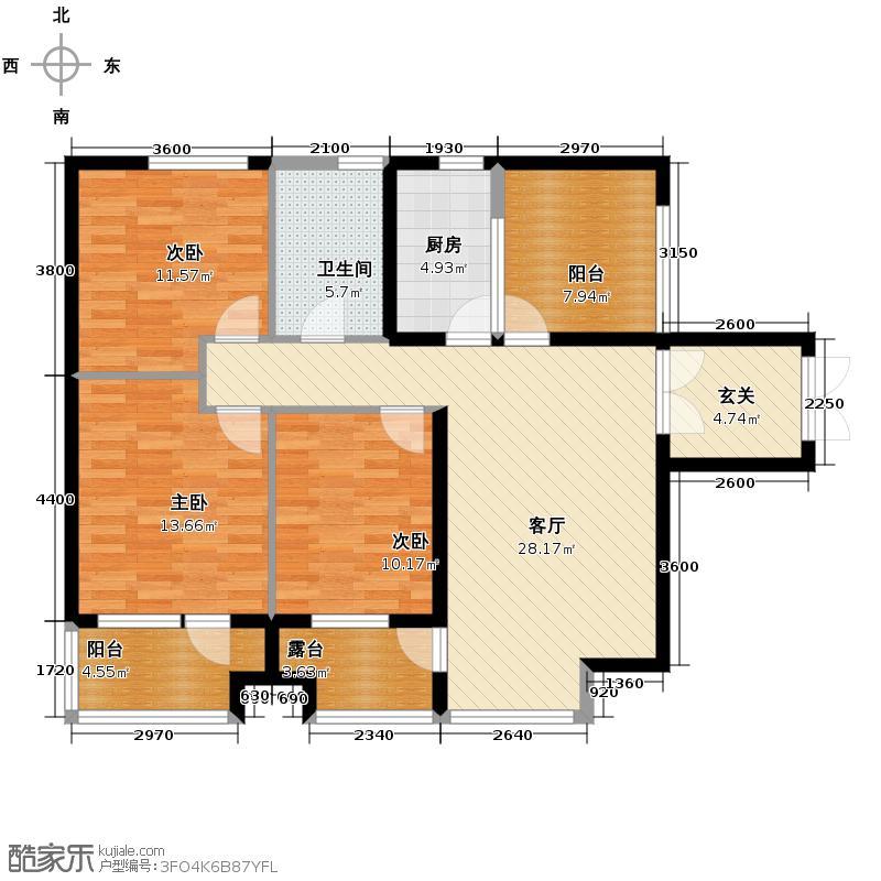 永泰枕流GOLF公寓118.49㎡A户型10室