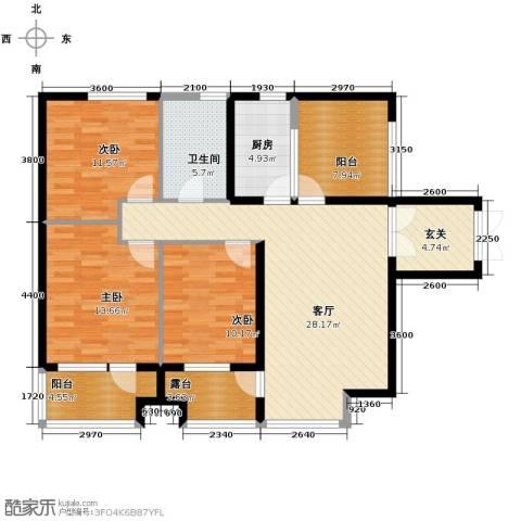 永泰枕流GOLF公寓118.00㎡户型图