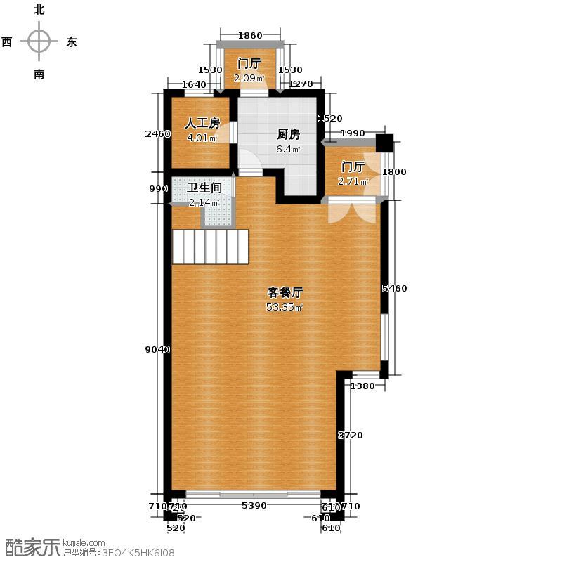 盈峰翠邸240.00㎡B4型一层户型10室