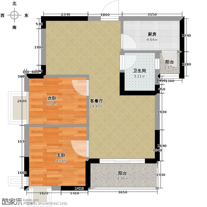 美联公园前72.30㎡房型户型10室