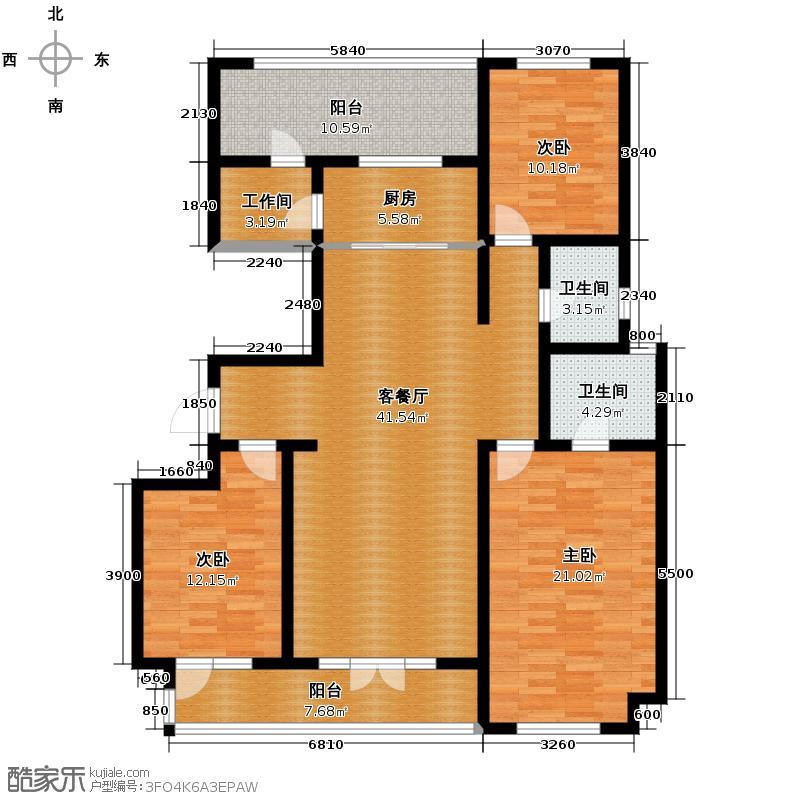 宜和澜岸137.05㎡A44号楼一区二层户型10室