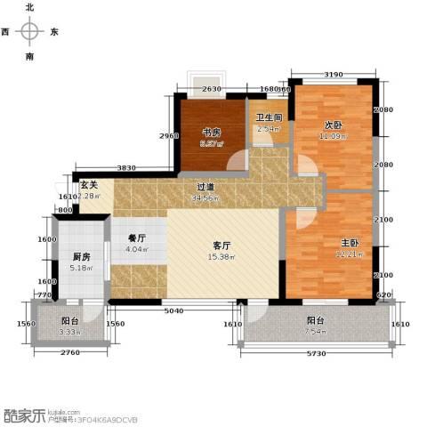 龙湖时代天街3室2厅0卫0厨103.00㎡户型图