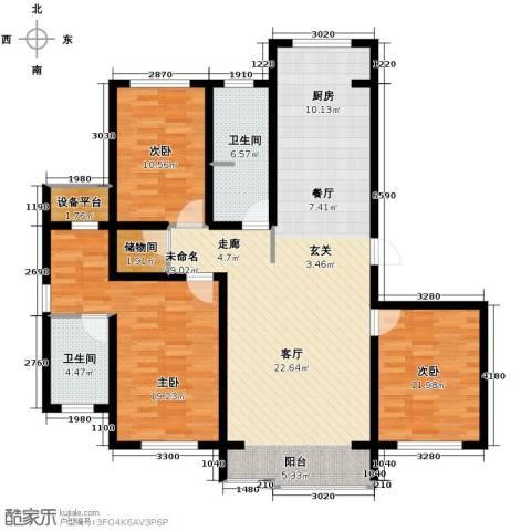 荣馨园3室2厅2卫0厨145.00㎡户型图