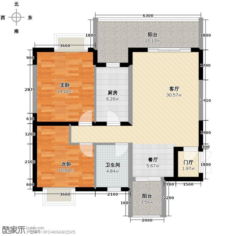 碧城旺丽庄园83.94㎡D4a型户型10室